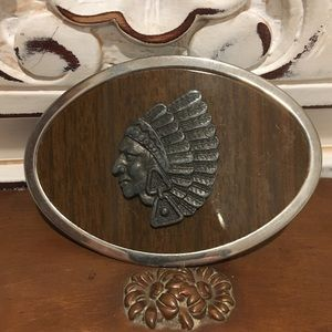 Accessories - Vintage native chief buckle